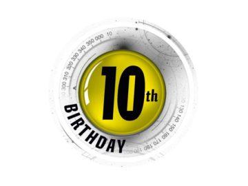 Popular Mechanics 10th birthday logo
