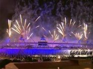 fireworks - opening ceremony of the 2012 Olympic Games