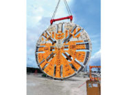 The business end of Harriet, the tunnel-boring machine, has fearsome incisors and crushers that can chew up 1,5 linear metres of rock per hour.