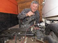 Retired engineer John Abel's new trailer hitch invention not only takes the hassles out of towing, but makes it much safer, too. Image credit: Sean Woods