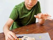 Nine-year-old Samuel Jarvis lights up LED bulbs and discovers the magic of electrical circuitry.