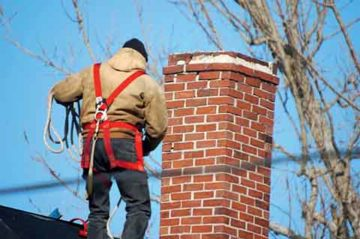 A curving chimney needs to be inspected by an experienced chimney sweep. With the inspection report in hand, a homeowner can set things straight.