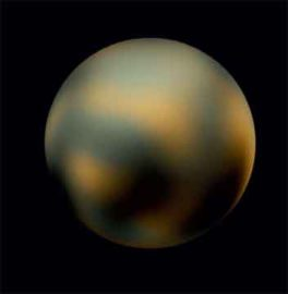Pluto, courtesy of Hubble. (Its newly discovered Moon is way too small to photograph.) Images from the Hubble Space Telescope, Nasa.