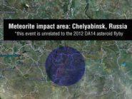 meteorite impact area Chelyabinsk Russia