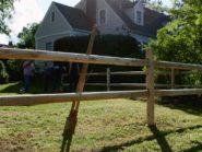Erect-a-split-rail-fence