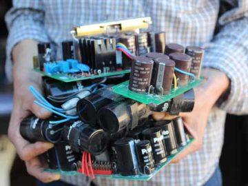 Karel Mars close-up with retrieved bits