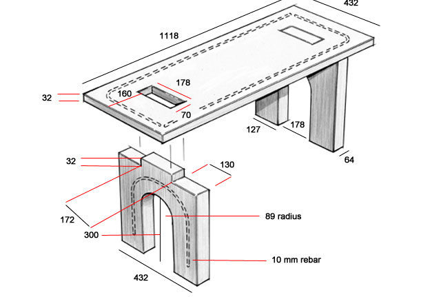Foyer Bench Popular Mechanics : Build a concrete bench popular mechanics