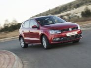 VW Polo in action.