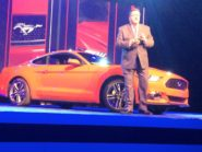 Ford design chief Moray Callum with the new Mustang