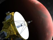 Artist's impression of the New Horizons spacecraft as it traversed the solar system. Credit: Johns Hopkins University Applied Physics Laboratory