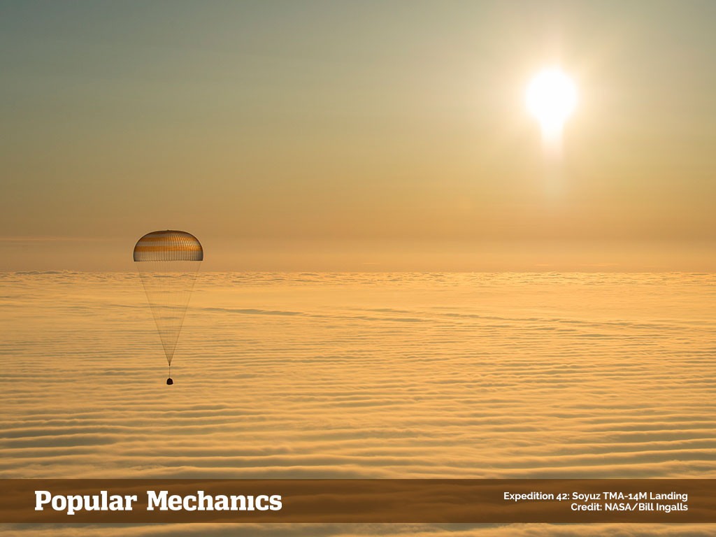 Expedition 42: the Soyuz TMA-14M Landing