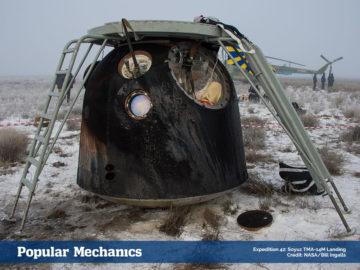 Expedition 42: the Soyuz TMA-14M Landing