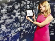 Leanne LeBlanc, IBM Watson project manager, views analytics of healthcare data at Watson headquarters in New York City