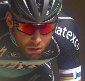 Mark Cavendish with Oakley Jawbones sunglasses.