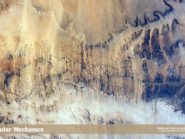 Windswept valleys in Northern Africa