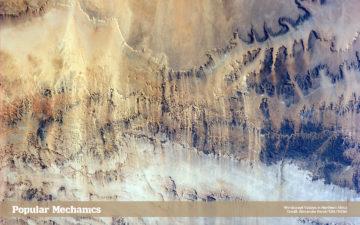 Windswept valleys in Northern Africa