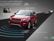 Pothole-detecting Land Rover