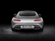 Mercedes-AMG GT exterior: designo iridium silver magno, LED tail lights