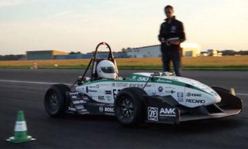 Electric formula car sets new 0-100 km/h record