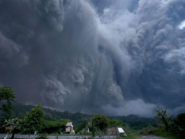 Ash from the Colima volcano