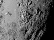 Pluto's icy mountains