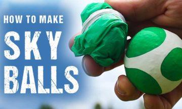How to make parachuting balls