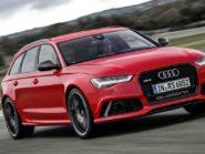 Audi RS6 Avant front three-quarter.