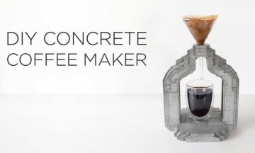 DIY concrete coffee maker