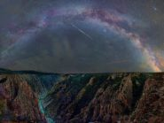Milky Way at Pulpit Rock Overlook, Black Canyon