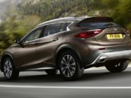 Infiniti QX30 rear three quarter.