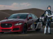 Jaguar XJR versus the Jetman, Image by Anthony Cullen