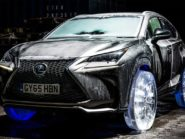 Lexus NX drives on ice wheels