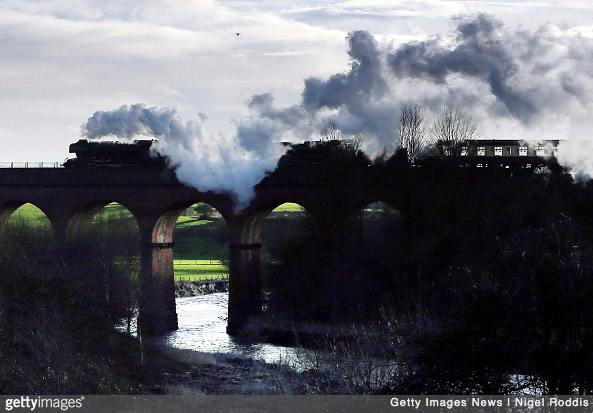 The Flying Scotsman takes to the rails after 10 year restoration