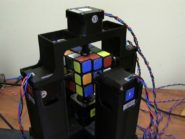 Watch as Rubik's Cube robot solves the puzzle in a second