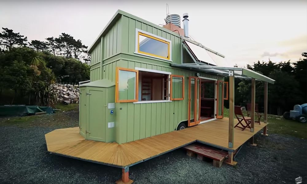 Fully equipped tiny house for off-the-grid living