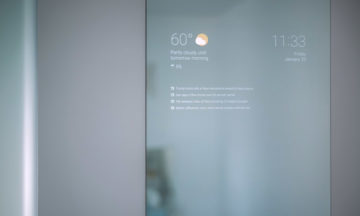 Max Braun's smart bathroom mirror