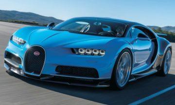 Bugatti Chiron front three quarter.