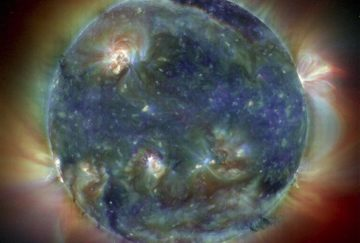 Ultraviolet image of the Sun's atmosphere