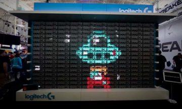 Logitech turns 160 keyboards into working display