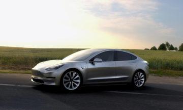 Tesla Model 3, Tesla's more affordable electric vehicle.