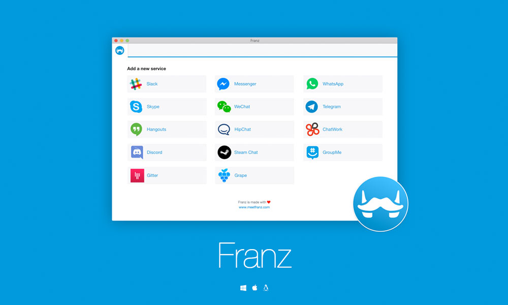 Bundle all your messaging services with Franz