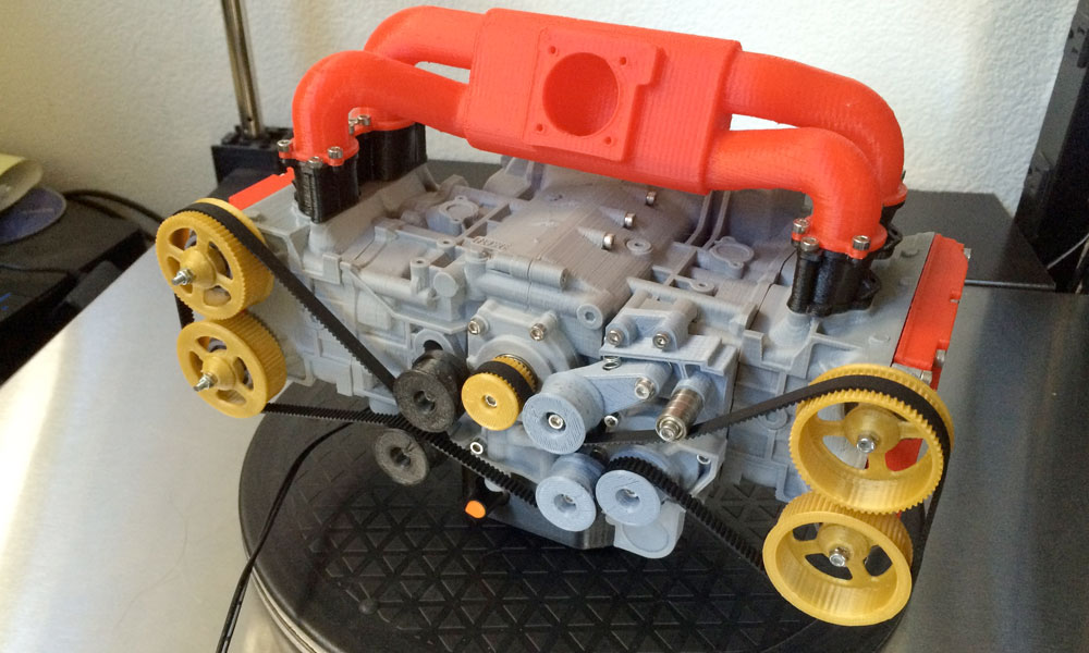 3D-Printed Subaru WRX Engine works like real thing