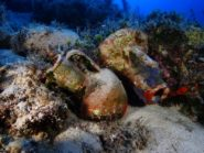 amphora in reef Fourni archipelago