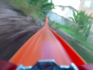 Hot Wheels car's roller coaster ride