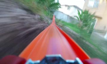 Hot Wheels car's roller coaster ride