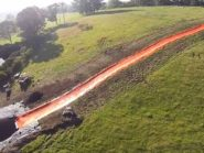 Aussies build a 100 metre slip 'n slide