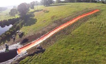 Aussies build a 100 metre slip 'n slide
