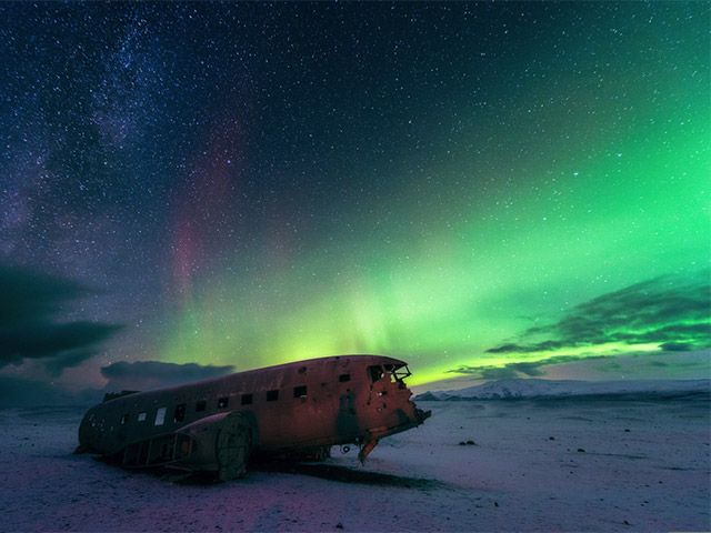 US Navy Douglas Super DC-3 wreck in Iceland