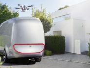 Mercedes-Benz drone-equipped Vision Van drone mobile