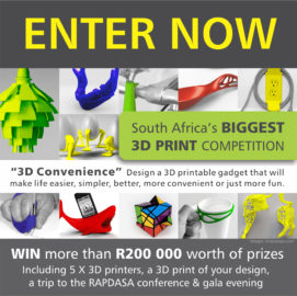Entries open for SA's biggest 3D-printing competition